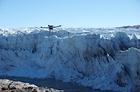 그린란드 러셀빙하를 관측하는 유맥에어의 UM-4 드론.