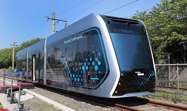 경남 창원시 현대로템 창원공장에서 공개된 수소트램 컨셉카.