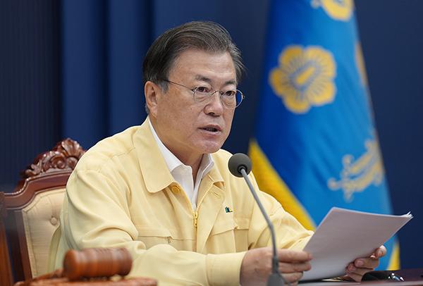 문재인 대통령이 28일 오전 청와대에서 열린 국무회의에서 발언하고 있다. (사진=청와대)