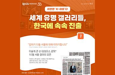 세계 유명 갤러리들, 한국에 속속 진출