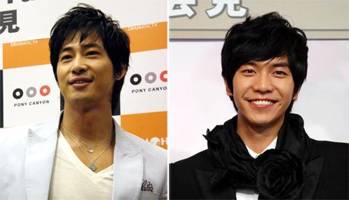강지환은 일본의 한 한류 전문 사이트 설문 결과 '2010년 최고의 남자배우'로 선정됐다. 지난 해 3월, <찬란한 유산>의 주연배우 이승기가 후지TV의 초청으로 일본을 방문해 포즈를 취하고 있다.