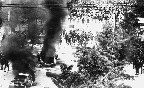 1980년 5?18 광주민주화운동 당시 광주.