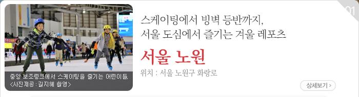 스케이팅에서 빙벽 등반까지, 서울 도심에서 즐기는 겨울 레포츠 - 서울 노원구