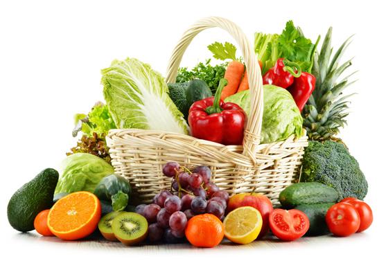 채소와 과일.