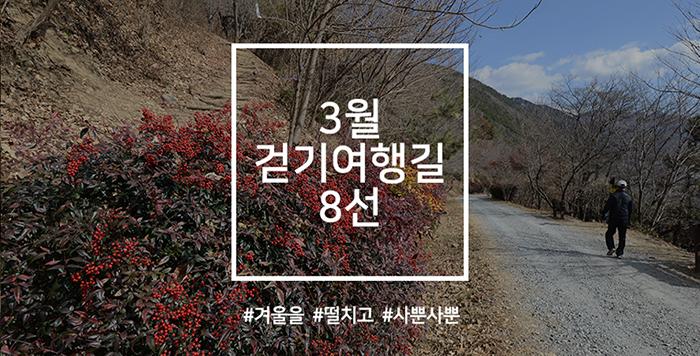3월 걷기여행길 8선, 겨울을 떨치고 사뿐사뿐~
