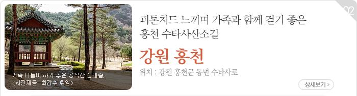 피톤치드 느끼며 가족과 함께 걷기 좋은 홍천 수타사산소길 - 강원 홍천