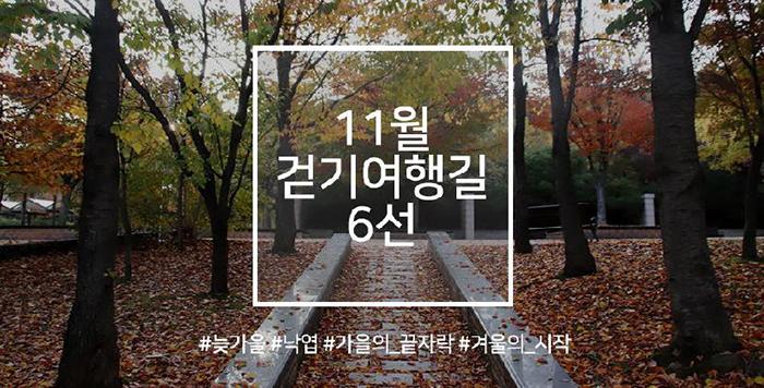 11월 걷기여행길 6선, 가을의 끝자락에서 만나는 길