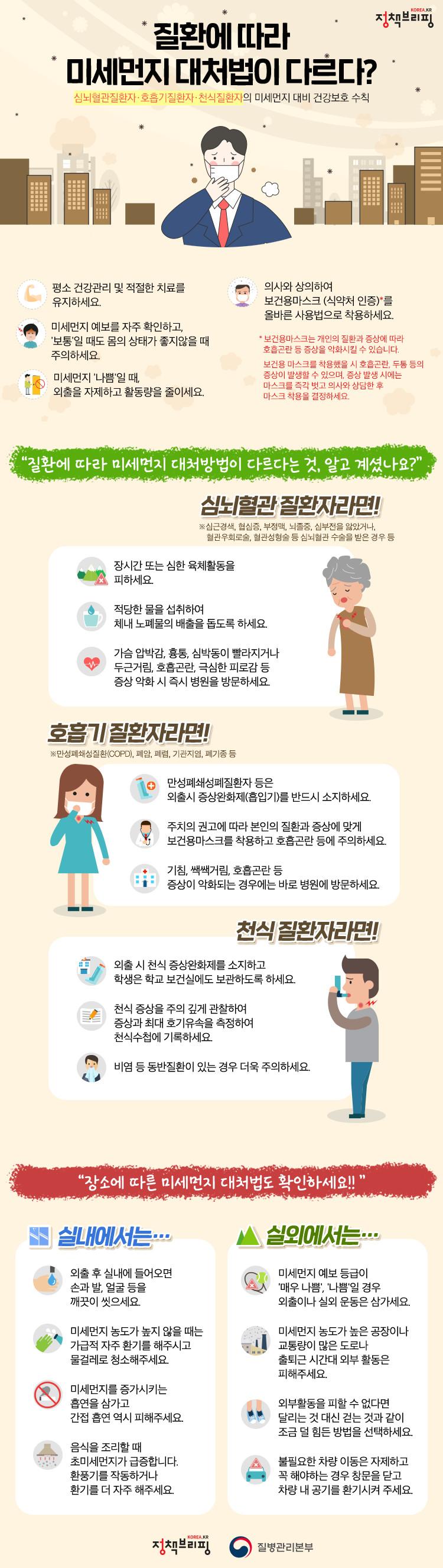 미세먼지 건강 수칙