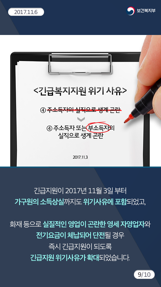 긴급복지지원제도 소개9