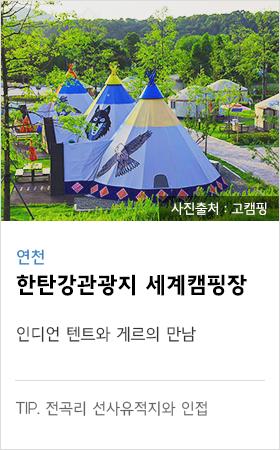 연천 한탄강관광지 세계캠핑장 인디언 텐트와 게르의 만남 tip. 전곡리 선사유적지와 인접