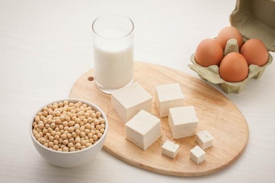 우유, 콩, 두부, 계란 이미지