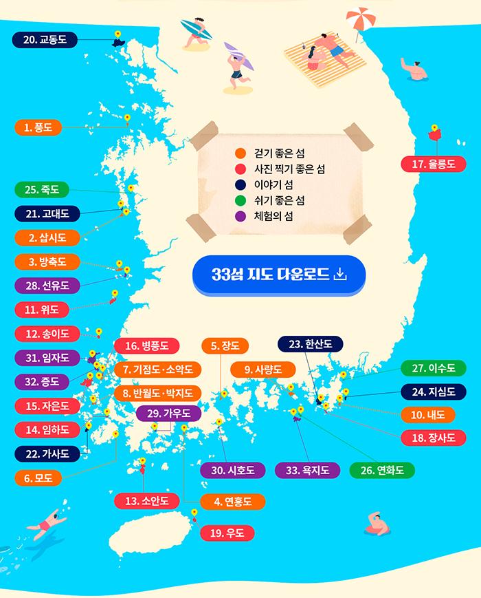 2021 찾아가고 싶은 33섬 하단 내용 참조