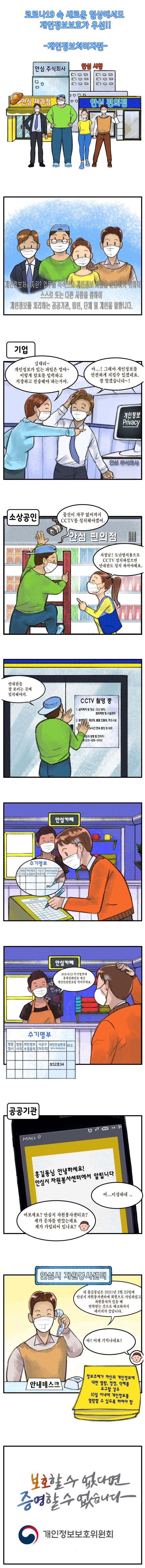 [웹툰] 코로나19 속 새로운 일상에서도 개인정보보호가 우선!! -개인정보처리자편-