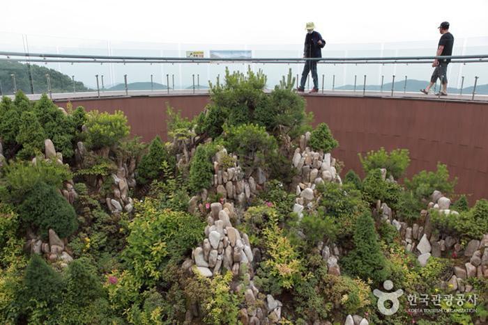 가야산야생화식물원 전망대 중앙의 만물상 축소 모형 - 한국관광공사
