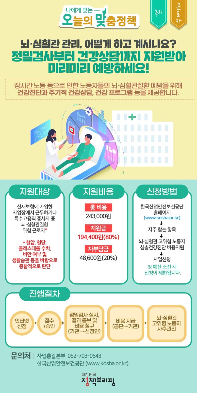 [오맞! 이 정책] 뇌·심혈관 관리 지원받아 미리 예방하세요! 하단내용 참조