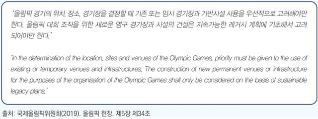 국제올림픽위원회(2019).올림픽 헌장. 제5장 제34조