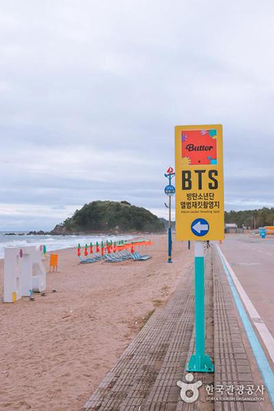 BTS 촬영지를 알리는 푯말 - 한국관광공사