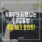 6월부터 시행되는 '도로교통법'…필수 체크 포인트