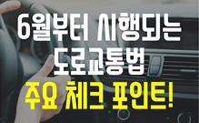 6월부터 시행, '도로교통법' 체크포인트