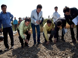 보령 거주 정책기자, 가뭄 현장을 가다
