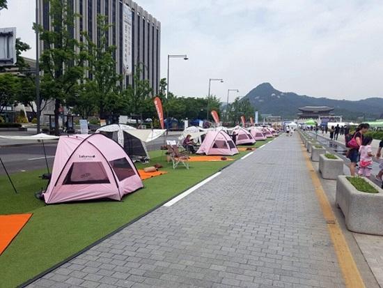 광화문광장에 텐트를 치다