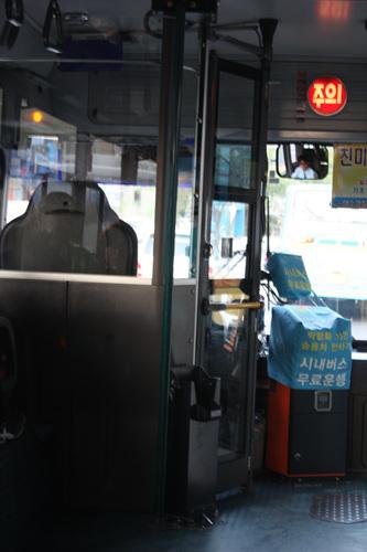 여수시가 엑스포 행사기간(5월12-8월12)90일 동안 시내버스 및 셔틀버스를 무임승차 하고 있어 여수엑스포를 찾는 관람객들은 이동에 돈한푼 안들이고도 여수시내를 여행할 수 있다.